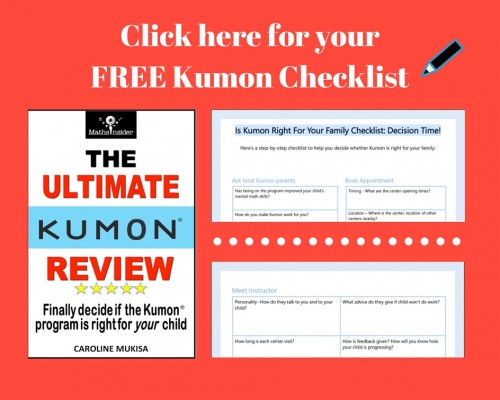 Click here for your FREE Kumon Checklist
