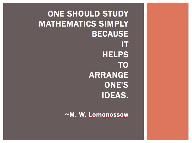 inspirational quotes about math quotesgram