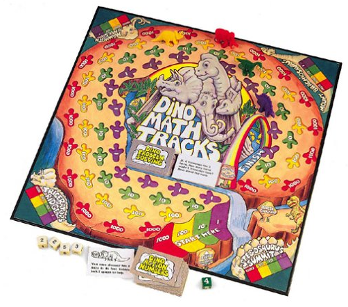 Dino math board game