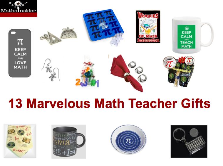 13 Marvelous Math Teacher Gifts